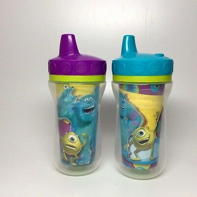 Monsters University- sippy cups-set of two cups-purple/blue
