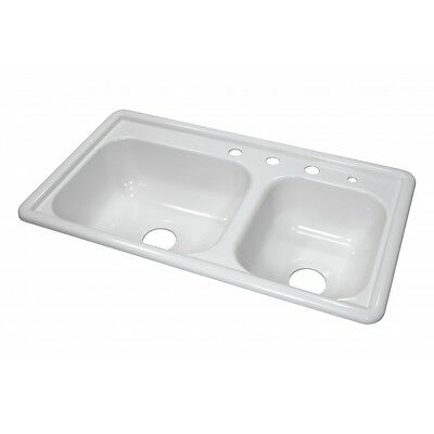 """Lyons Deluxe DKS01R-3.5 White 33""""X19"""" Manufactured/Mobile Home Acrylic 7"""" Deep K"""