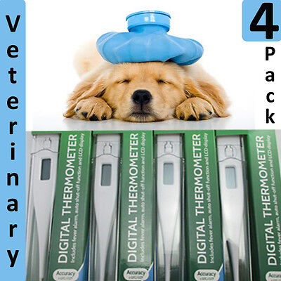 4 x Veterinary Thermometer Digital Thermometer Pet Dog Puppy Whelping or Human