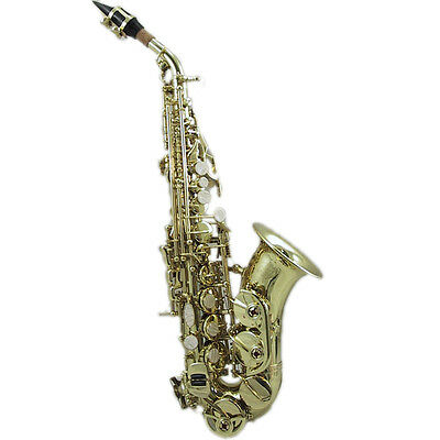 HOLIDAY SALE Curved Soprano Saxophone w Case **GREAT GIFT**