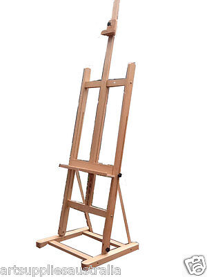 Luca Large Studio H-frame Artist Easel and Display Easel, Beechwood LW02B