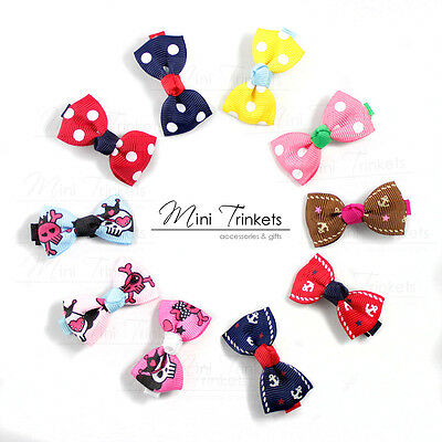Cute Baby Kids Girls Children Hair Bows Alligator Clips Slides Snaps Grips Gift