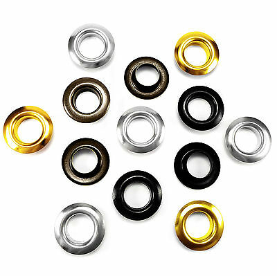 Solid brass eyelets 17mm opening, 32mm flange and washers, Self piercing ANR
