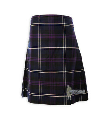 Mens Scottish Tartan Deluxe 8-Yard Kilt - Heritage Of Scotland 46-48""