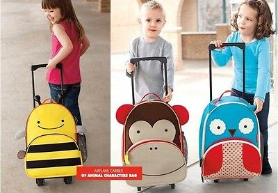 Cute Backpack Rolling Luggage Trolley For Kids Boys Girls