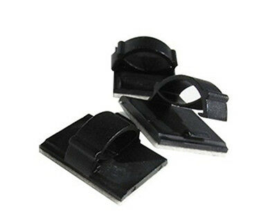 20Pcs 3M Self-adhesive Cable Clips Cable Drop Wire Holder to fix Car DVR Charge