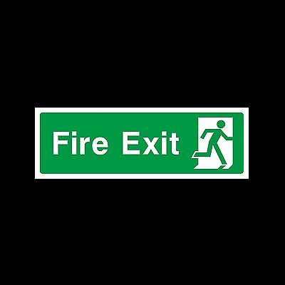 Fire Exit Final   *All Sizes*  Plastic Sign or Sticker (EE75)