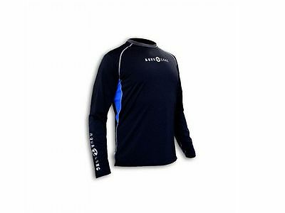 Aqualung Rash Guard Loose Fit Men Langarm, UV-Schutz Lycra Shirt, UV-Shirt