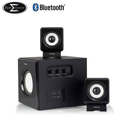 N-Cube Pro Bluetooth 2.1 Sound Stereo Speaker + Sub Woofer System Piano Black