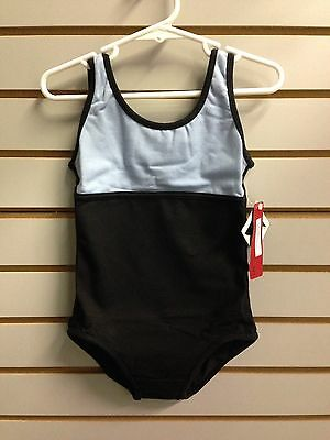 Bloch CL9495 Girl's Size 4-6 (Small) Black/Blue Two-Tone Reversible Tank Leotard