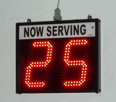 """Token Number Display/Take a number system/Lap Counter- 2 digit 6"""" high numbers"""