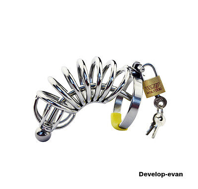 Stainless steel Male Chastity device Urethral Tube  Domina A057