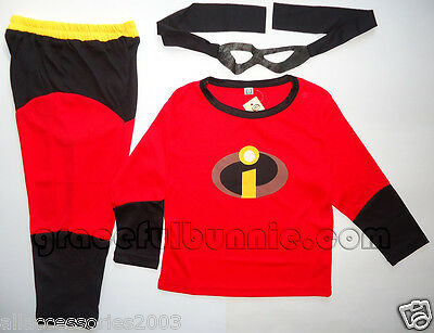 BNWT The Incredible Kids Costume Dress up Cosplay - 3-8yrs