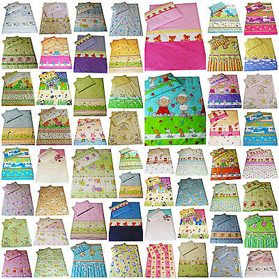 2 Piece Bedding Set Pillowcase+Duvet Cover for Baby Toddler to fit Cot/Cot Bed