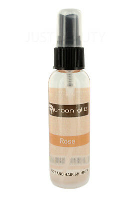 Urban Tan Rose Glamour Glitz Shimmer For Body and Hair Shimmer 60ml Hair Styling