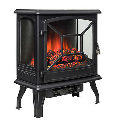 "23"" 1400W Free Standing Insert Log Electric Fireplace Firebox Remote Control"