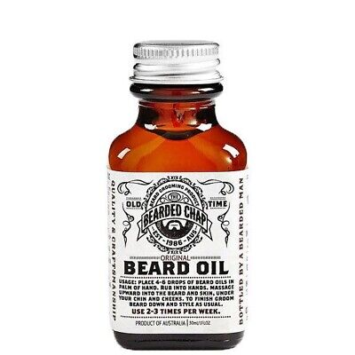 Bearded Chap Beard Oil Face Moisturiser Conditioner 100% Natural AUSTRALIAN 30ml