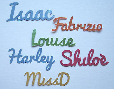 Unique Personalised Table Confetti Script Single Name Birthday Christening Party
