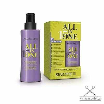 (€9,66/100ml) Selective ALL in ONE 15 Spray-Maske Kur Hitzeschutz Volumen 150ml