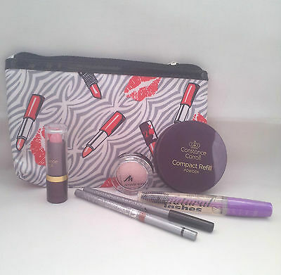 Cosmetics Bag  With 6 Cosmetic Items