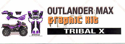 Can Am Outlander Max 2012-2013 Purple Graphic Kit