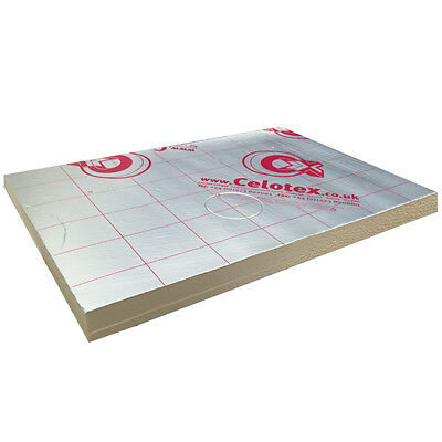 Celotex Ecotherm Recticel insulation board 2400x1200 sheet MULTIPLE THICKNESS