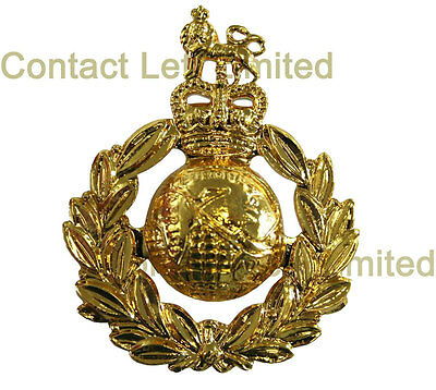 New OFFICIAL Royal Marines CAP BADGE Anodised ( Beret Commando SBS Marine