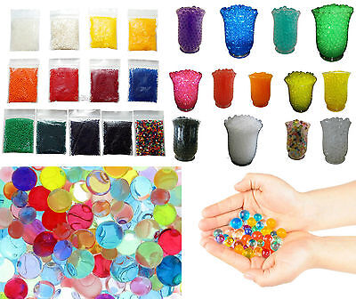 New 100x Bags Crystal Water Soil Mud Beads Gel Balls Market Sales Bulk Wholesale