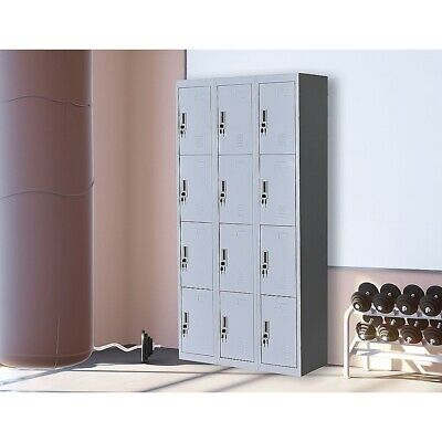12-Door Office Gym Shed Storage Lockers Home Furniture
