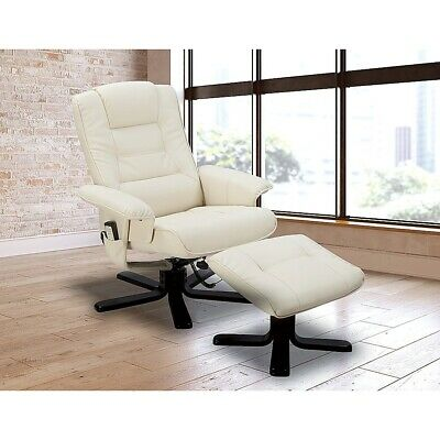 PU Leather Massage Chair Recliner Ottoman Lounge Remote Premium Sofa