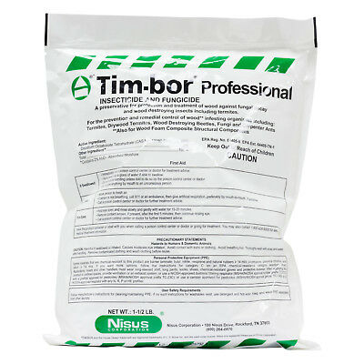 Timbor Professional 8 Bags ( 8 X 1.5 Lbs) Insecticide Fungicide Dust Liquid Foam