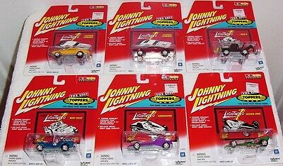 JOHNNY LIGHTNING 2001 RELEASE KB TOYS EXCLUSIVE 6 CAR SET THE LOST TOPPERS MINT