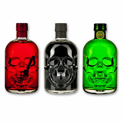 Absinthe Totenkopf Set: Antitoxin 89,9% + Black Head 55% + Red Chili Head 55%