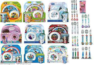 New Childrens Novelty Characters Tumbler  Dinner Sets Plate Bowl Or Cutlery Set