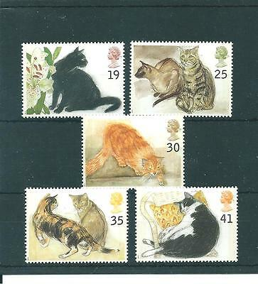 Gb Commems - 1995 - Cats -  Unmounted Mint Set