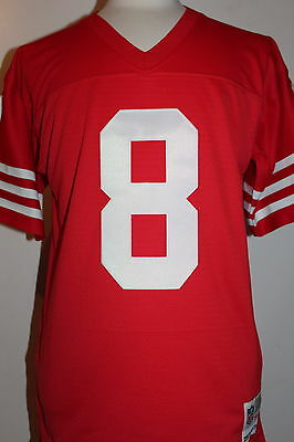 low priced b45e7 21a8d STEVE YOUNG #8 San Francisco 49ers Throwback Jersey Mitchell & Ness Jersey  - Red