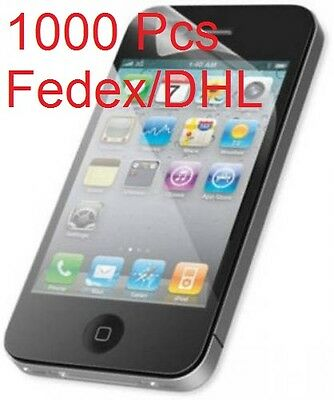 1000 pcs Lot Wholesale APPLE iPhone 4 4G Front LCD Screen Guard Protector