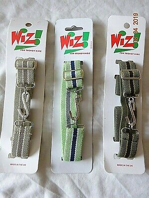 Kids Boy Girl  Grey Green Colour Stripe Elasticated Stretchy Snake Belt Child