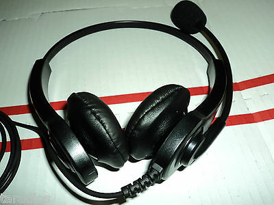 Dual Earphone HEADSET - HEAVY DUTY Flexible Boom Mic Microphone FOR ANY RADIO !!