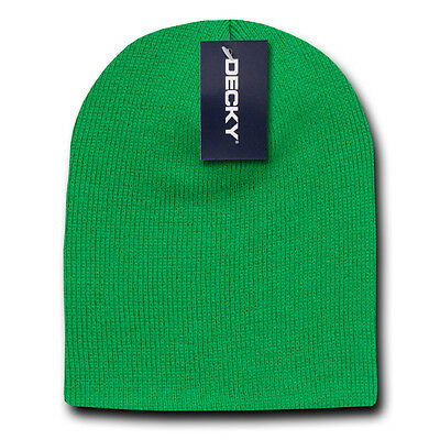 bd551edab07 Kelly Green SHORT BEANIE HAT Knit Winter Cap ski snowboard skull skully