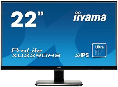 Iiyama ProLite XU2290HS 22 inch LED IPS Monitor - Full HD, 5ms, Speakers, HDMI