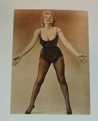 Movie Star Marilyn Monroe Photograph Postcard Black & White from 1980s Unused A