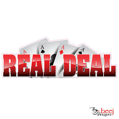 Real Deal sticker 300x105mm - Fishing Boat tackle Ace Cards decal