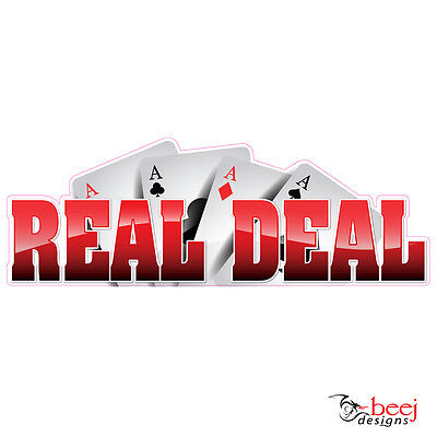 Real Deal sticker 900x320mm - Fishing Boat tackle Ace Cards decal