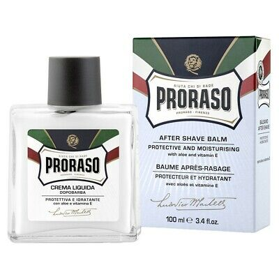 Proraso Aftershave Balm Aloe & Vitamin E Protect Post Shave Razor Burn Italy