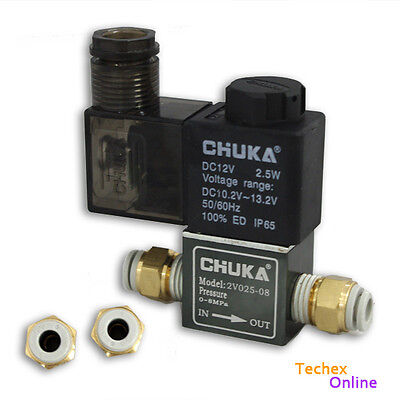 12V Solenoid Valve+6mm Connector for Arduino High Speed Photography Water Drop
