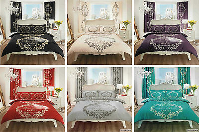 Script Paris Duvet Cover Quilt Cover Bedding Set Single Double King Super