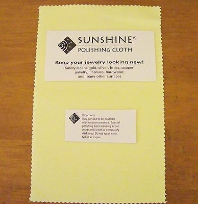 2 Sunshine Polishing Cloths Jewelry Cleaner Gold Silver Brass Polisher Quality
