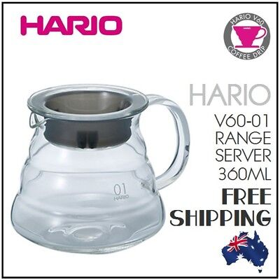 HARIO V60-01 Glass Range Server Pot Coffee Dripper Pour Over Cone Filter Brewer