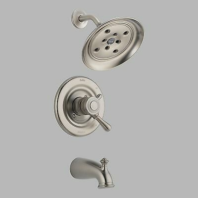 Delta-T17478-SSH2O Leland, Monitor(R) 17 Series Tub and Shower Trim, Stainless